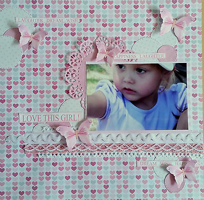 12 x 12 Handmade Scrapbook Page - Love this girl!