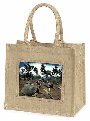 Galapagos Tortoise Large Natural Jute Shopping Bag Christmas Gift Ide, AR-T11BLN