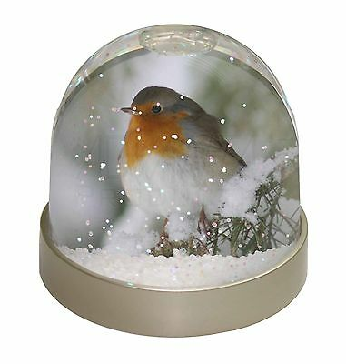Robin Red Breast in Snow Tree Photo Snow Dome Waterball Stocking Fille, AB-R16GL