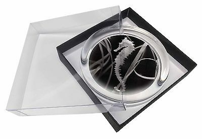 Seahorse Glass Paperweight in Gift Box Christmas Present, AF-24PW