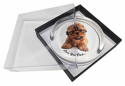 Shih-Tzu Dog 'Love You Dad' Glass Paperweight in Gift Box Christmas P, DAD-191PW