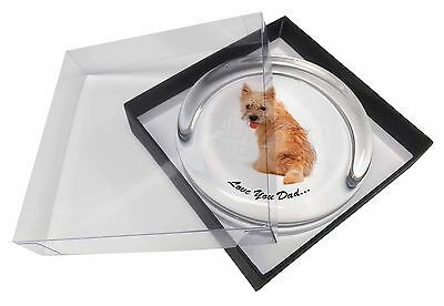 Cairn Terrier Dog 'Love You Dad' Glass Paperweight in Gift Box Christm, DAD-20PW