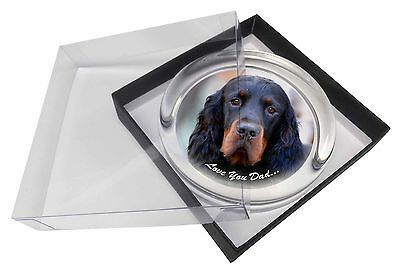 Gordon Setter 'Love You Dad' Glass Paperweight in Gift Box Christmas P, DAD-38PW