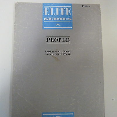 songsheet  PEOPLE Julie Styne 1963