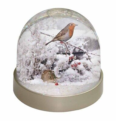 Snow Mouse and Robin Print Photo Snow Dome Waterball Stocking Filler Gi, AMO-5GL