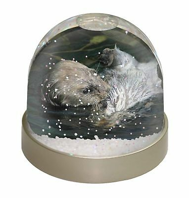 Floating Otter Photo Snow Dome Waterball Stocking Filler Gift, AO-3GL