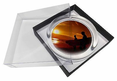 Sunset Surf Glass Paperweight in Gift Box Christmas Present, SPO-S1PW