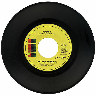 """ESTHER PHILIPS  """"FEVER c/w FOR ALL WE KNOW""""  70's FUNK  LISTEN!"""