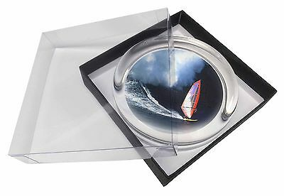Wind Surfer Glass Paperweight in Gift Box Christmas Present, SPO-WS2PW