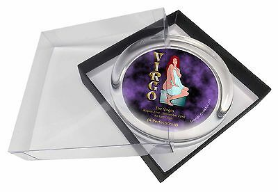 Virgo Star Sign Birthday Gift Glass Paperweight in Gift Box Christmas P, ZOD-6PW