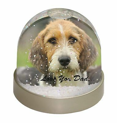 Fox Hound 'Love You Dad' Photo Snow Dome Waterball Stocking Filler Gif, DAD-30GL