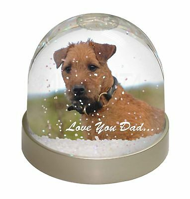 Lakeland Terrier 'Love You Dad' Photo Snow Dome Waterball Stocking Fil, DAD-73GL