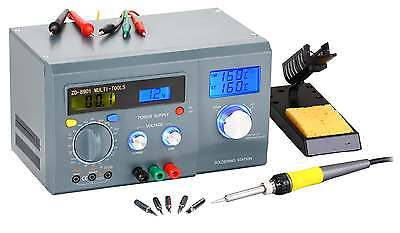 Uk-Lcd Display Soldering Station With Digital-Multimeter&Dc Power Supply Zd-8901
