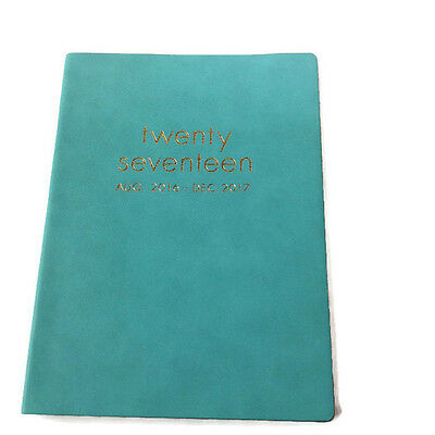 Paper Source 2016/17 17-Month Large Soft Bound Agenda Day Planner - Tiffany Blue