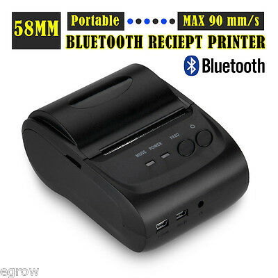 Bluetooth 58mm POS Cash Drawer Thermal Dot Receipt Printer Android IOS Windows