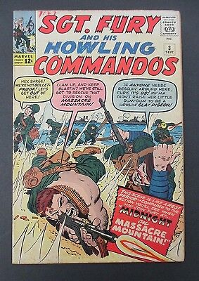 SGT FURY & His HOWLING COMMANDOS #3, Sept 1963