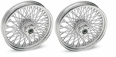 """DNA CHROME 80 SPOKE WHEELS HARLEY 16x3.5"""" FRONT & REAR TOURING OR SOFTAIL"""