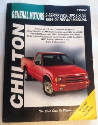 Chiltons GM S Series Pickups & SUV's Repair Manual USED. 1994 to 2004 Models
