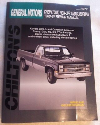 Chiltons GM Full-Size Pickups & SUV's Repair Manual USED. 1980 to 1987 Models