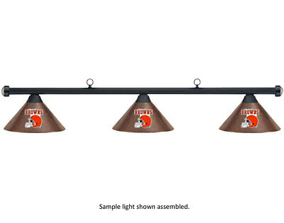 NFL Cleveland Browns Autumn Rustic Shade /Black Bar Billiard Pool Table Light