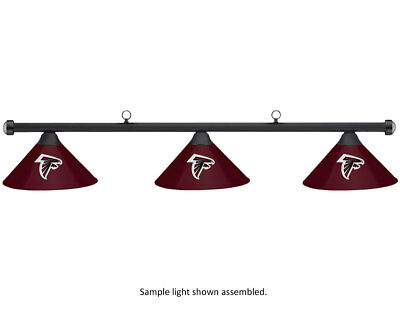NFL Atlanta Falcons Burgundy Metal Shade & Black Bar Billiard Pool Table Light