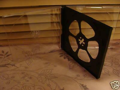 Case: CD / DVD - 1 For 3 Discs  Clear / Black Acrylic