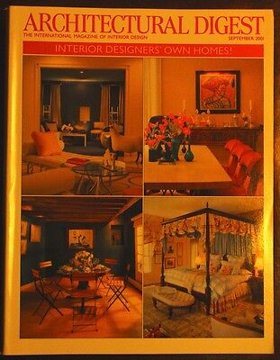 Architectural Digest Designers Own Homes September 2001