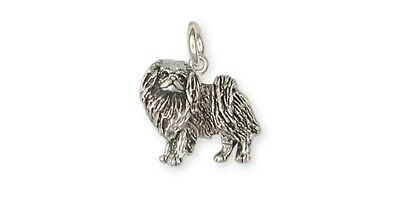 Japanese Chin Charm Handmade Sterling Silver Dog Jewelry JC8-C