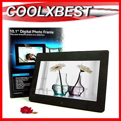"Avlabs 10.1"" Hd Frameless Black Digital Photo Frame Video & Music Alarm Clock"