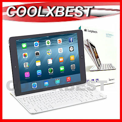 FREE SHIP - NEW LOGITECH iPAD AIR 2 WIRELESS KEYBOARD BACK COVER CASE BLUETOOTH