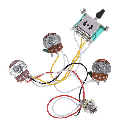 electric guitar wiring harness prewired kit for strat parts 5 way electric guitar wiring harness on ebay electric guitar wiring harness prewired kit for strat parts 5 way 500k pots 2t1v