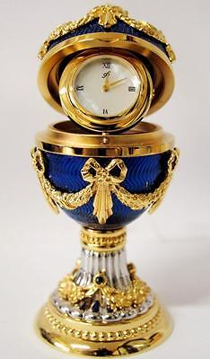 Rare Franklin Mint House of Imperial Faberge Imperial Egg Clock