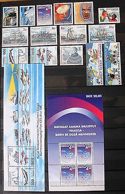 Greenland Year Set 2002 MNH Complete - EXCELLENT!