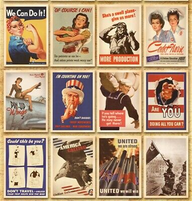 Lot of 32 Vintage Postcards Advertising Album Poster War II History Post Cards