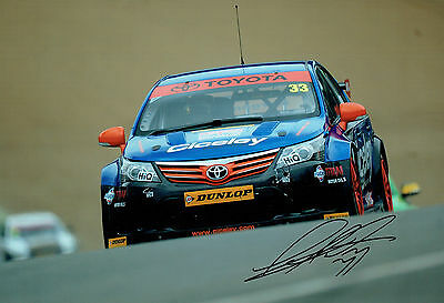 Adam MORGAN Tour Car Driver SIGNED 12x8 Photo AFTAL Autograph COA Toyota Driver