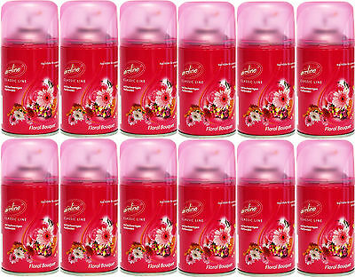 12 Airline Duftspray Raumspray FLORAL BOUQUET 250ml ideal f. Airwick Fresh Matic