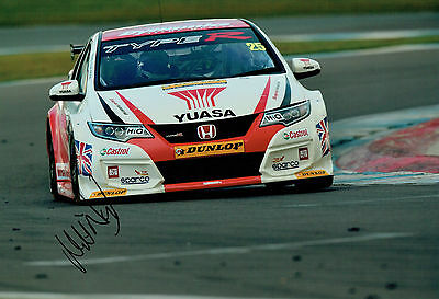 Matt NEAL HONDA Touring Car Driver SIGNED 12x8 Photo AFTAL Autograph COA
