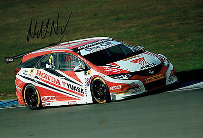 Matt NEAL British Touring Car Champion Driver SIGNED Photo AFTAL Autograph COA