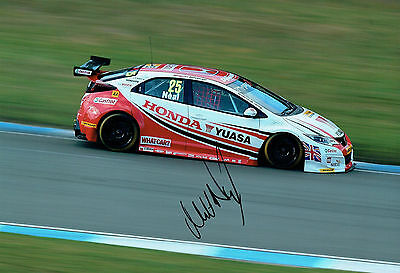 Matt NEAL British Touring Car Driver SIGNED 12x8 Photo AFTAL Autograph COA
