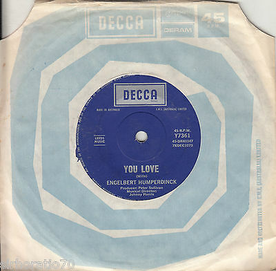 ENGELBERT HUMPERDINCK There Goes My Everything / You Love 45