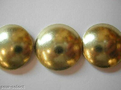 50 LARGE 19mm UPHOLSTERY NAILS  -  Brass on steel Big furniture tacks pins