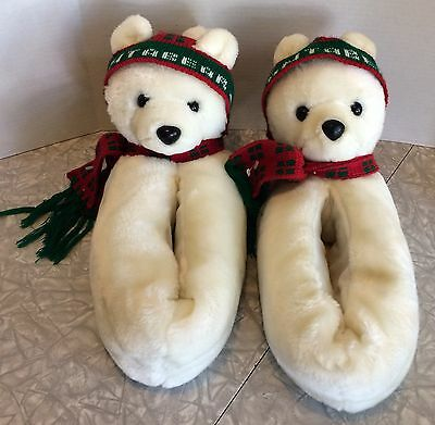 "11"" Plush Vintage 1986 Santa Bear Slippers Carousel By Guy Rare"