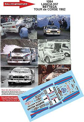 Decals PROMO  1/43 réf 1064 LANCIA 037 BETTEGA TOUR de CORSE 1982