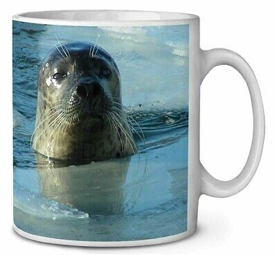 Sea Lion in Ice Water Coffee/Tea Mug Christmas Stocking Filler Gift Ide, AF-S2MG