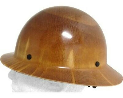 MSA Skullguard FULL BRIM Hard hat with Ratchet Suspension, Natural Tan