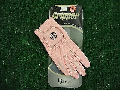HJ Glove Womens Gripper Golf Glove Pink Ladies Right XL Extra Large New