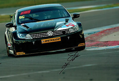 Jason PLATO British Touring Car Champion SIGNED 12x8 Photo AFTAL Autograph COA