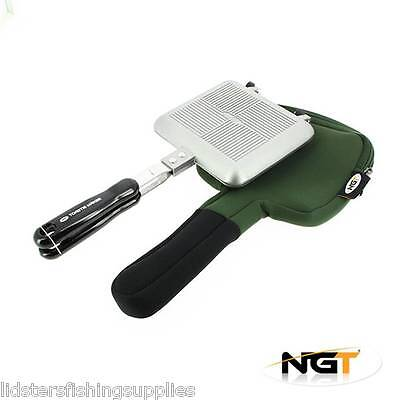 NGT Bankside Sandwich Toaster Tostie Maker With Case Carp Fishing Tackle Camping