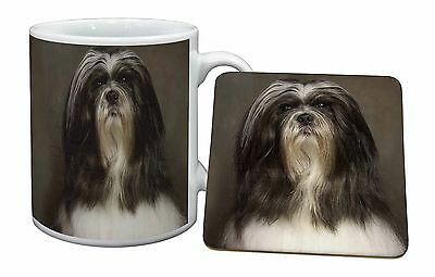 Lhasa Apso Dog Mug+Coaster Christmas/Birthday Gift Idea, AD-LAP1MC