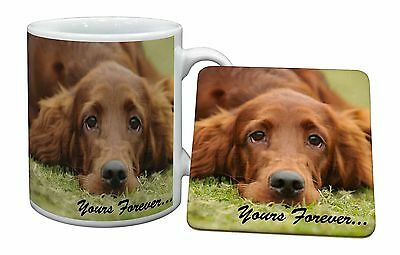 Red Setter Dog 'Yours Forever' Mug+Coaster Christmas/Birthday Gift Id, AD-RS2yMC